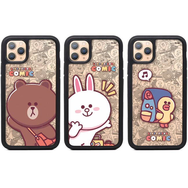GARMMA LINE FRIENDS iPhone 11 Pro Max  iPhone 11 Pro IP11 雙層彩繪保護殼