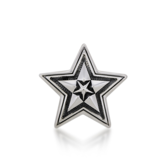 SMALL STAR IN STAR PENDANT  [USD $770]