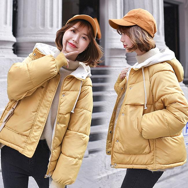 FOFU-鋪棉外套韓版可愛寬鬆麵包服鋪棉外套【08G-F1047】