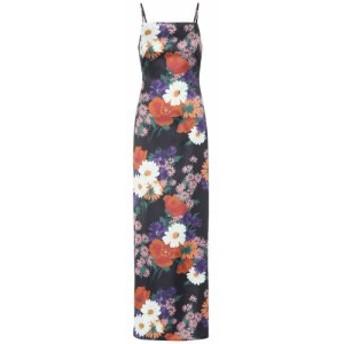 スタウド Staud レディース ワンピース マキシ丈 ワンピース・ドレス heidi floral stretch-satin maxi dress Black Floral