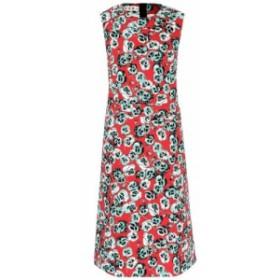 マルニ Marni レディース ワンピース ノースリーブ ワンピース・ドレス floral-printed sleeveless cotton-blend dress Mint