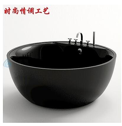 推薦進口雙層亞克力圓形獨立浴缸大尺寸雙人酒店時尚浴盆澡盆