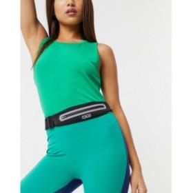 エイソス ASOS 4505 レディース ベルト mini running belt in stretch fabric ブラック