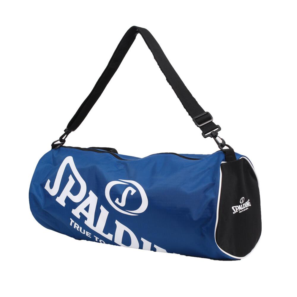 spalding 三顆裝球袋-斯伯丁 籃球 側背包 手提袋 收納袋 行李袋 寶藍白