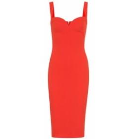 ヴィクトリア ベッカム Victoria Beckham レディース ワンピース ワンピース・ドレス crepe dress Tomato