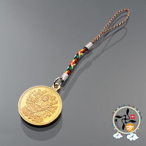 準提佛母五色線吊飾 + 平安小佛卡 十方佛教文物
