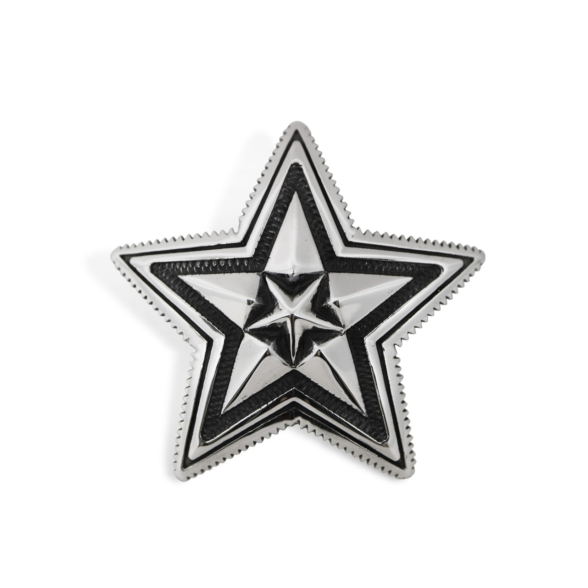 EXTRA LARGE STAR IN STAR COIN EDGE PENDANT  [USD $950]