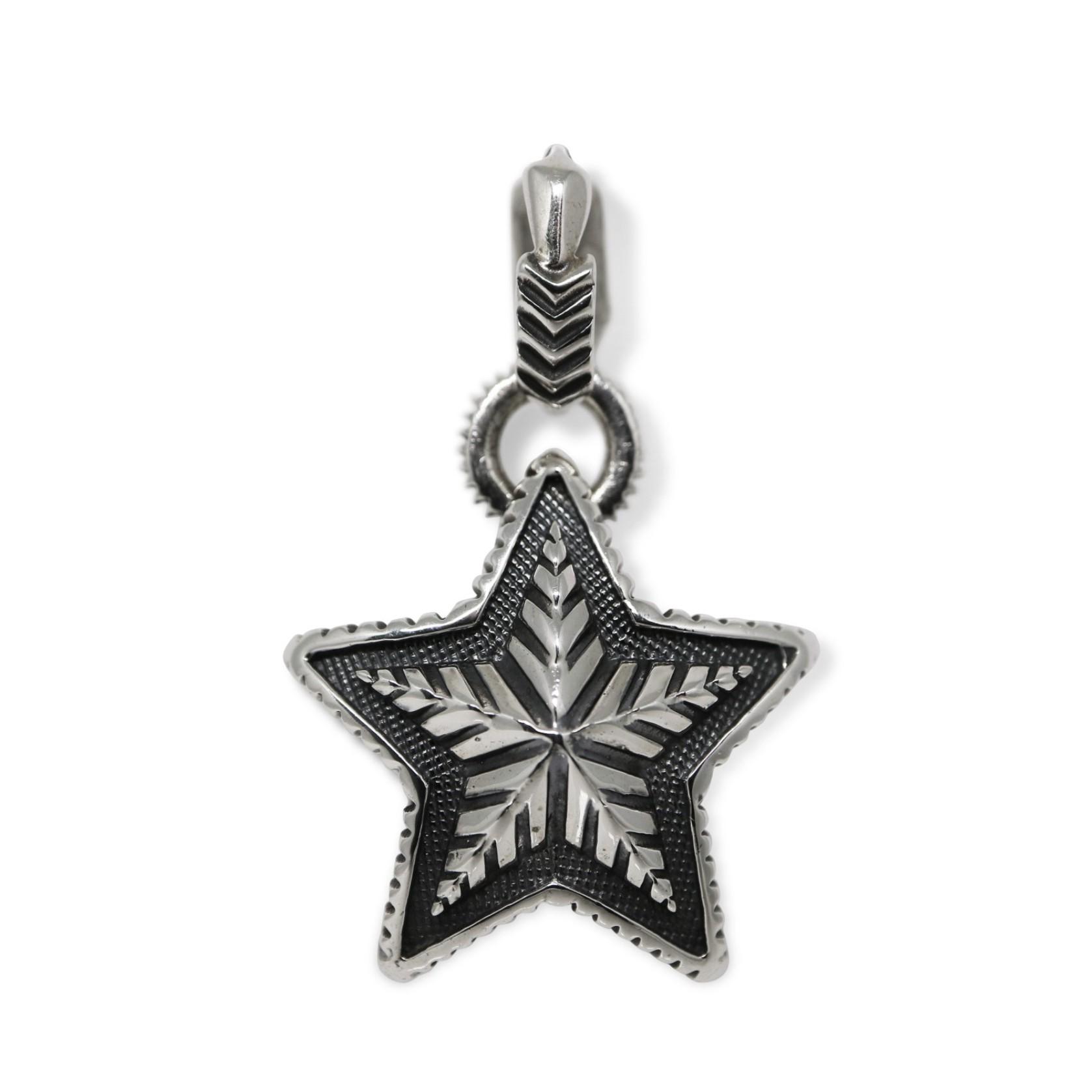 REVERSIBLE STAR W / ARROW BAIL PENDANT  [USD $1130]