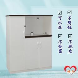 轉角傢俱-塑鋼電器櫃 防潮防水防發霉 (寬97深43高112)二色可選