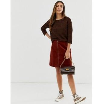 ビーヤング b.Young レディース ミニスカート スカート cord mini skirt ダークコッパー