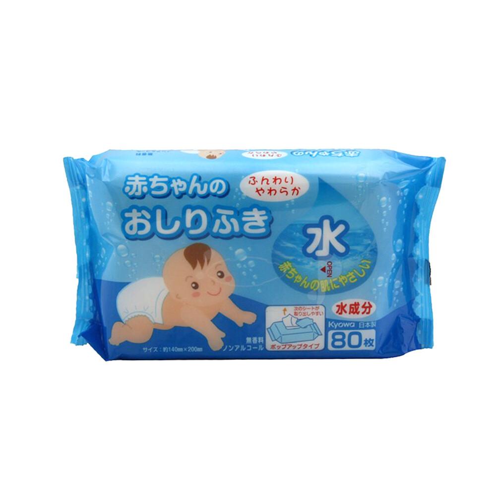 日本kyowa [無酒精/香料]寶寶臀部濕紙巾80枚