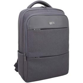 ビジネスリュック男女兼用大容量防水耐久性強化ポケット通勤学校旅行アウトドア (灰色)