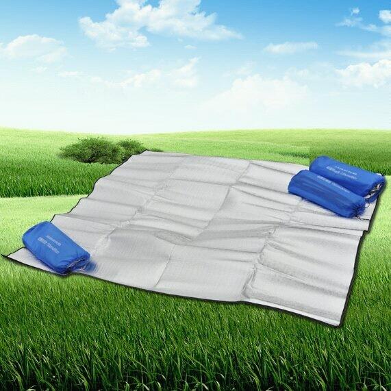 多功能雙面鋁箔防潮墊 200*200cm 雙面鋁箔墊 野餐墊 露營地墊 鋁箔墊
