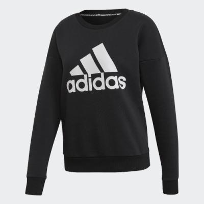 Adidas SWEATSHIRT 女款黑色長袖上衣 EB3815