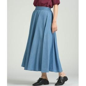 MAYSON GREY/メイソングレイ 【socolla】テンセルデニムフレアスカート ブルー S