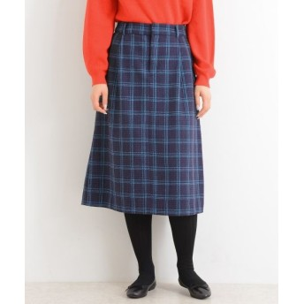 NIMES/ニーム フラノ/チェック スカート オフ×パープル 1