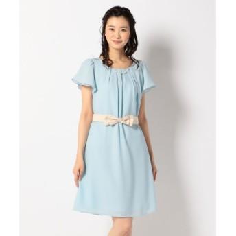 any SiS/エニィスィス 【2WAY・洗える】フレアジョーゼット ドレス スカイブルー系 2