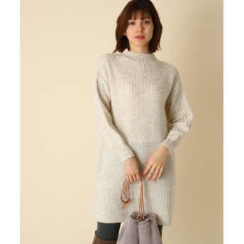 Couture Brooch/クチュールブローチ 【WEB限定サイズ(S・LL)あり/手洗い可】パールニットワンピース オフホワイト(003) 40(L)
