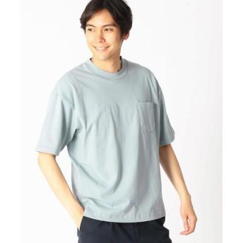 COMME CA ISM/コムサイズム 日本の伝統色 ポケット付 Tシャツ 深川鼠 L
