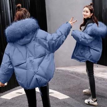 秋 冬ダウンジャケット中綿 ダウンコート レディース ショート 中綿 ダウンコート 軽量 フード付き 大きいサイズ ショート丈 アウター