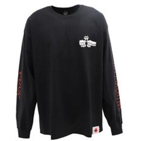 【Super Sports XEBIO & mall店:トップス】パンクドランカーズ フィストロングTシャツ PTM19LT1BLK