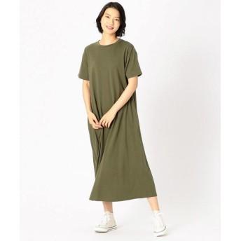 COMME CA ISM/コムサイズム Tシャツ ワンピース カーキ L
