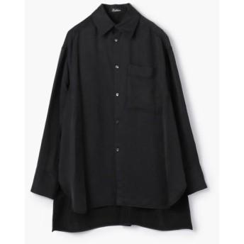 TOMORROWLAND/トゥモローランド Edition フィブリルサテン ビッグカラーシャツ 19 ブラック F