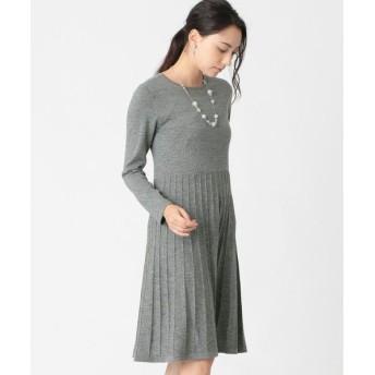 TO BE CHIC (大きいサイズ)/トゥー ビー シック (オオキイサイズ) 【L】キャッシュウールニットドレス チャコールグレー 46