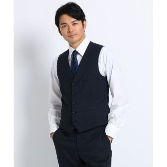 TAKEO KIKUCHI/タケオキクチ 【Sサイズ~】シャドーストライプ ベスト Material using CORDURA ダークネイビー(394) 02(M)