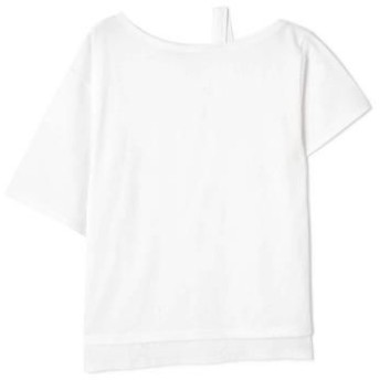 ROSE BUD/ローズ バッド ワンショルダービッグTシャツ ホワイト -