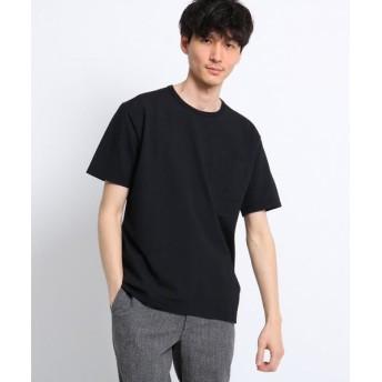 TAKEO KIKUCHI/タケオキクチ シアサッカー ポケット Tシャツ ブラック(019) 02(M)