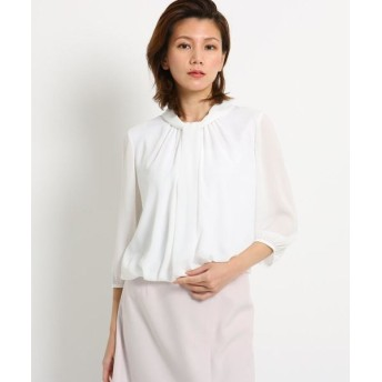 COUP DE CHANCE/クードシャンス 【洗える】シルシフォンボウタイシャツ ホワイト(001) 34(SS)