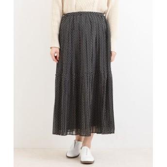 NIMES/ニーム PEシフォン/ボイル プリーツスカート MIX3 フリー