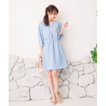 any SiS/エニィスィス 【洗える】レーススリーブサックワンピース ドレス スカイブルー系 2