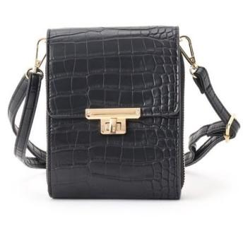 Couture Brooch/クチュールブローチ ウォレットミニショルダーバッグ ブラック(019) 00