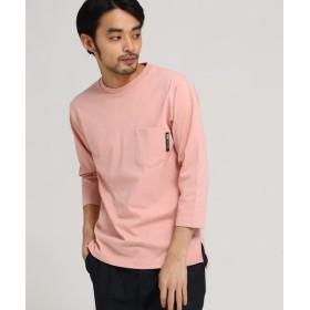 BASE STATION/ベースステーション ヘビーウェイト 7分袖 Tシャツ 【WEB限定】 ピンク(072) 02(M)