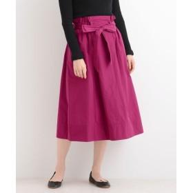 NIMES/ニーム メモリータフタ リボン付スカート ローズ 0