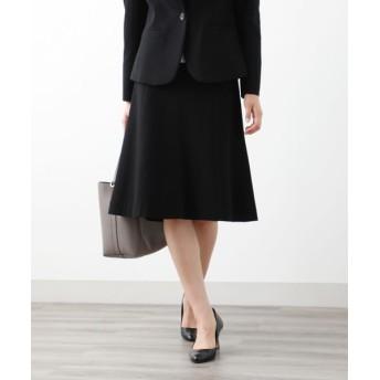 AMACA/アマカ 【XSサイズ〜】【LADY SKIRT】メランジポンチ スカート ブラック 38
