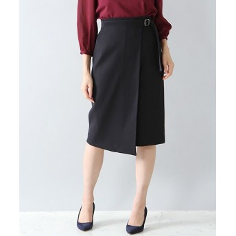 ANAYI/アナイ ダブルクロスラップスカート ネイビー 36
