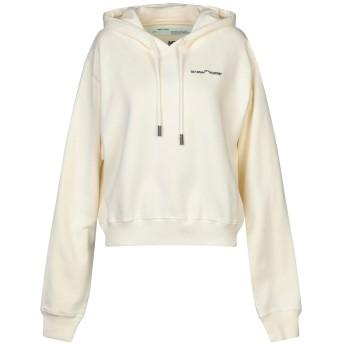 《セール開催中》OFF-WHITE レディース スウェットシャツ アイボリー L コットン 100% / レーヨン