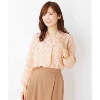 SOUP/スープ 【大きいサイズあり・13号・15号】カラー幾何学プリントシャツ ピンク(172) 09(M)