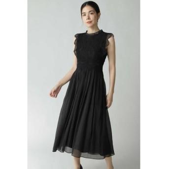 ROSE BUD/ローズ バッド レース切り替えワンピースドレス ブラック -