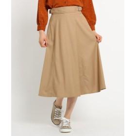 Dessin/デッサン 【Sサイズあり、洗える】ストレッチギャバ ベルトスカート サンドベージュ(053) 01(S)
