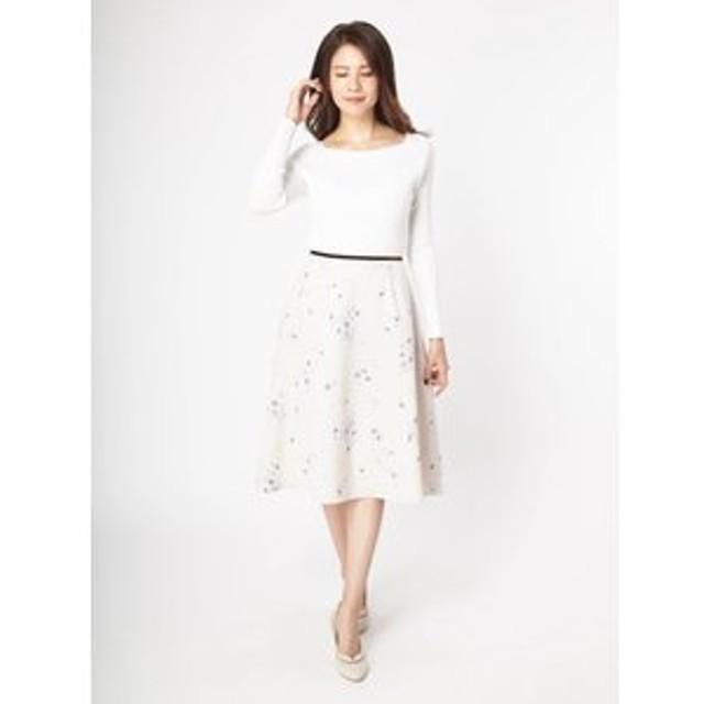 【Fabulous Angela:スカート】オリジナルフラワープリントフレアスカート