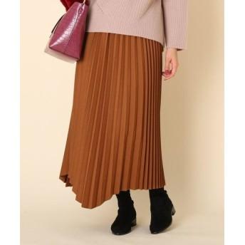 Couture Brooch/クチュールブローチ 【手洗い可】ランダムプリーツスカート ブラウン(042) 36(S)