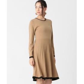TO BE CHIC/トゥー ビー シック キャッシュウールニットドレス キャメル1 40
