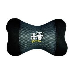 安伯特  竹炭 熊貓 圓仔 骨頭枕-小(1入)卡通圖案 抱枕 靠枕 腰靠墊 頸枕 抗菌 除濕 除臭