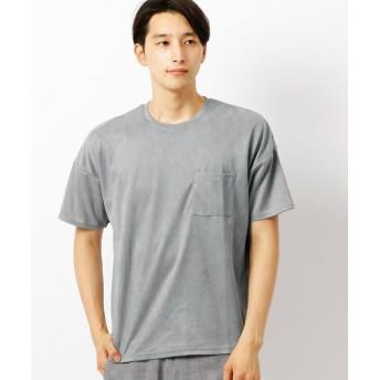 COMME CA ISM/コムサイズム フェイク スエード Tシャツ グレー L