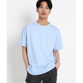 THE SHOP TK/ザ ショップ ティーケー 【WEB/一部店舗限定】ラインリブTシャツ サックス(090) 01(S)