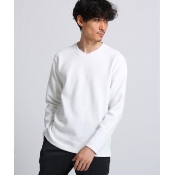 TAKEO KIKUCHI/タケオキクチ ブリスター Vネックロングスリーブプルオーバー ホワイト(001) 04(LL)